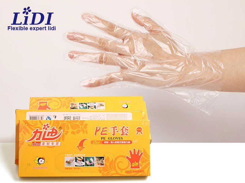 Food Grade Box-Packed PE Gloves
