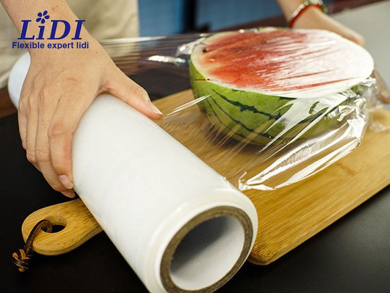 Large Roll Good Flexibility PE Cling Film