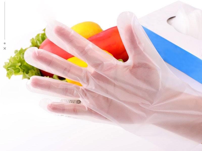 Transparent Disposable CPE Gloves