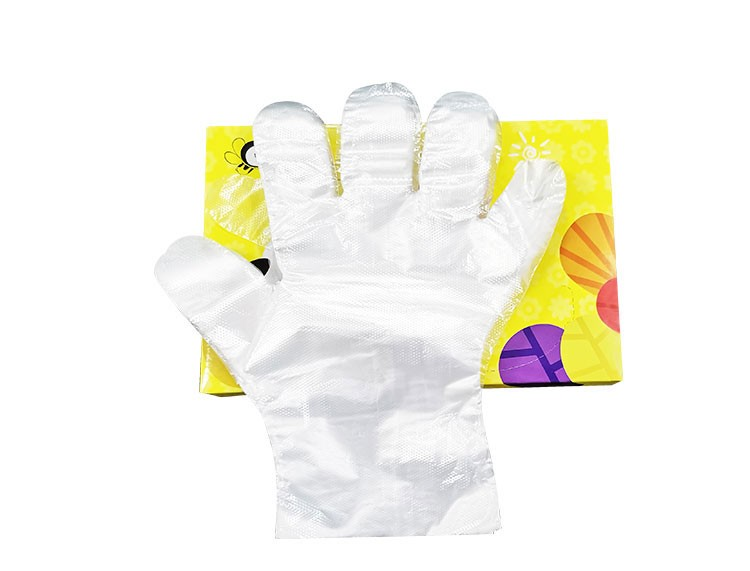 Oil Resistant Children's PE Gloves