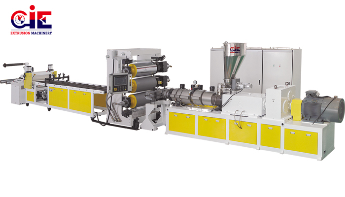 thermoforming sheet extrusion machine