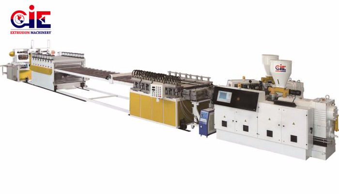 PVC Free Foam Plastic Extrusion Machinery
