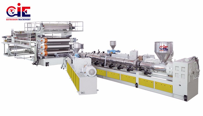 PE Water-Drainage Sheet Extrusion Line Manufacturers, PE Water-Drainage Sheet Extrusion Line Factory, Supply PE Water-Drainage Sheet Extrusion Line