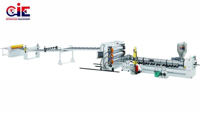 Automatic Plastic PE Sheet Extruder Machine