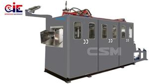 In Line Extrusion Plastic Thermoforming Machine