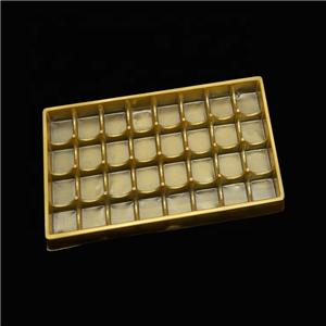 Thermoformed Plastic Candy blister Chocolate Insert Tray Food Grade Plastic Tray