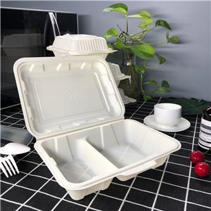 biodegradable corn starch/PLA take away food container
