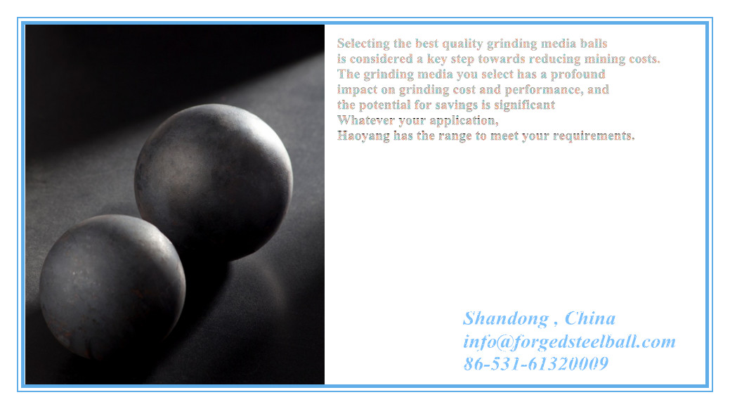 Forged SAG mill Grinding balls