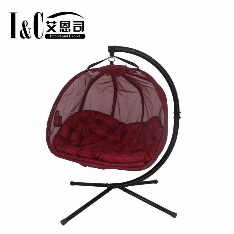 Red Textilene Egg Chair for Double Seat