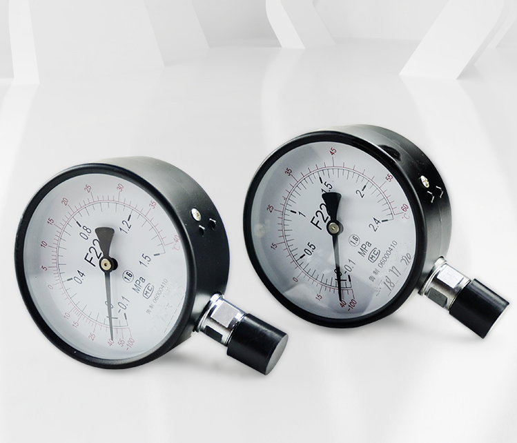 Fluorine vacuum pressure gauge