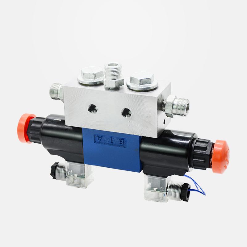 Three-position four-way valve