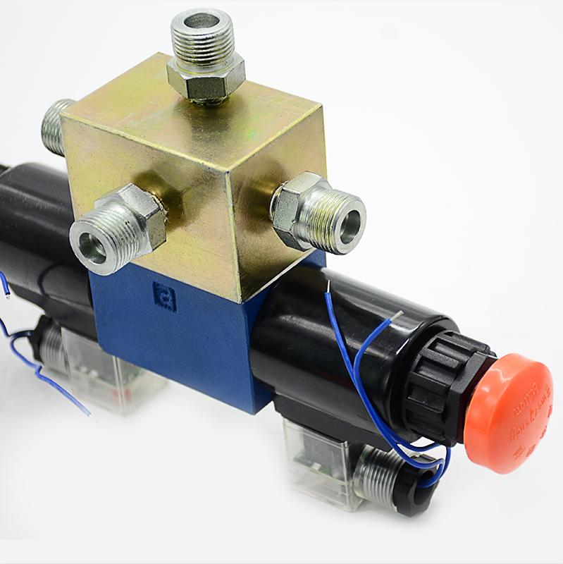 Three-position four-way valves