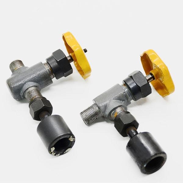Ammonia pressure gauge valve