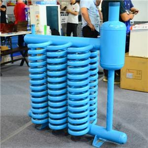 Spiral tube evaporator with single coil
