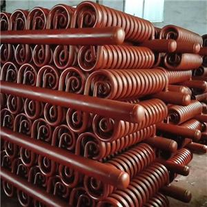 Painted surface spiral tube evaporator coil