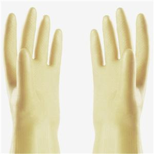 Rubber industrial yellow gloves for ammonia