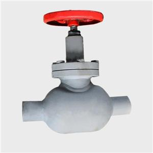 Welding throttle valve for cold storage