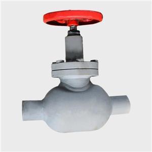 냉장 용 스로틀 밸브 용접