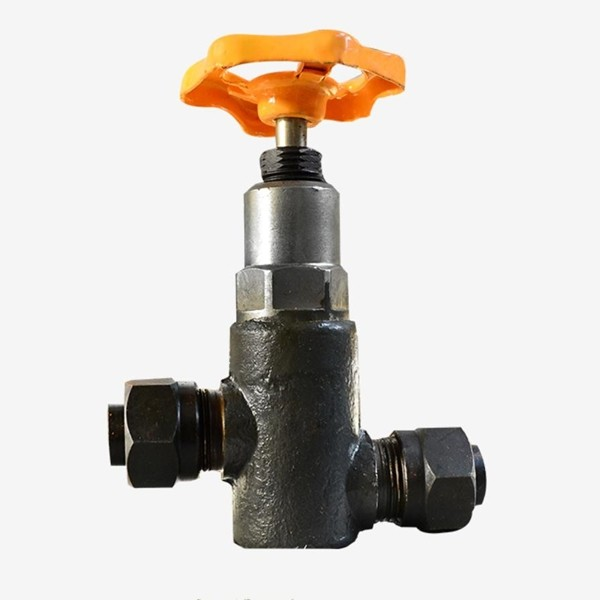 Misaligned thread stop valve