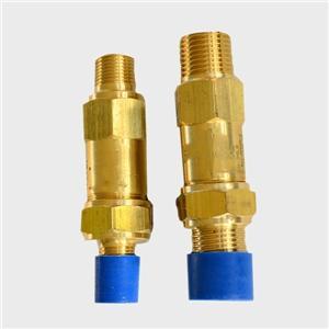 Fluorine safety valve