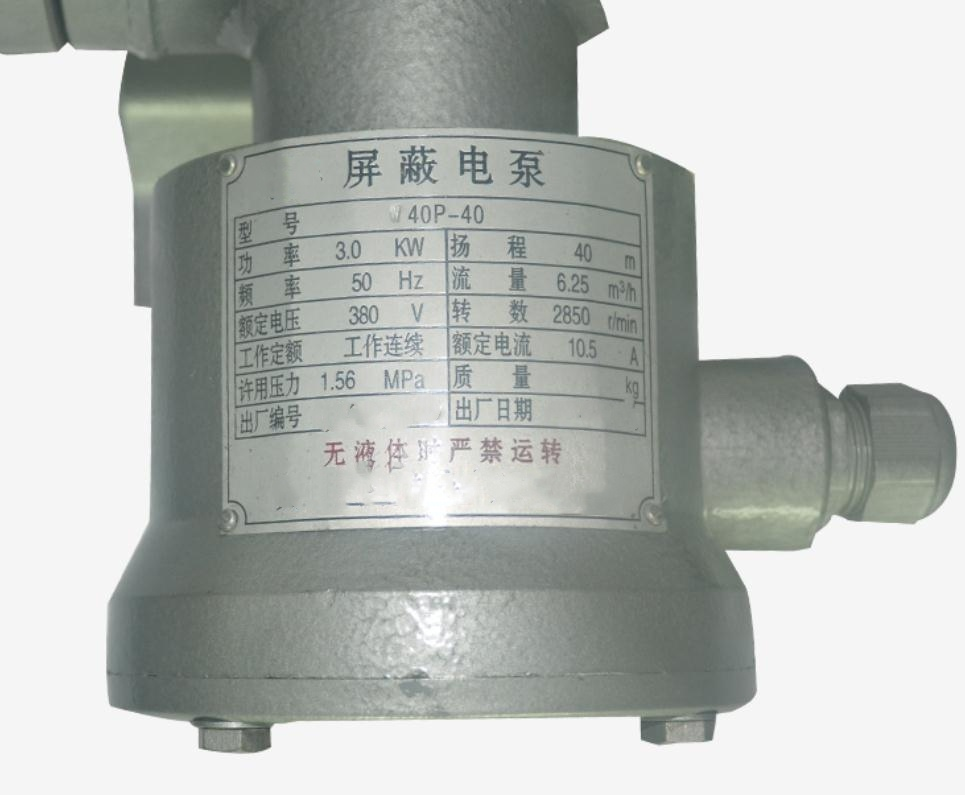 canned electric pump