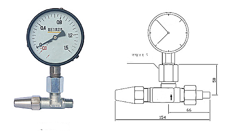 Straight or pressure gauge valve