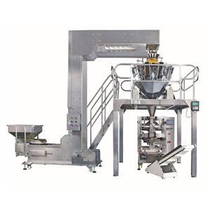 감자 칩을위한 자동 무게 측정 및 포장 기계