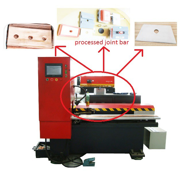 Awtomatikong Busbar Joint Processing Center para sa Punching Flanging Cutting