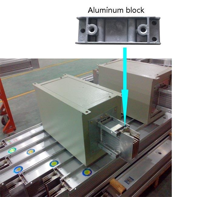 Aluminium Die Casting Capped End untuk Busbar Trunking System