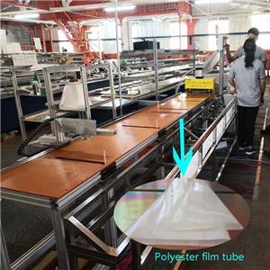 Polyester film wrapping machine para sa busbar insulator