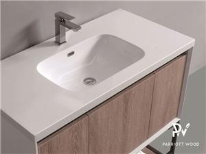 Armário do banheiro do armário da vaidade da melamina do PVC de Woodbridge Coleção-BC181-100