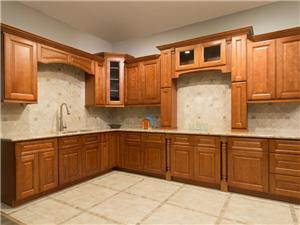 Coffee Glaze Solidwood Kitchen Cabinet