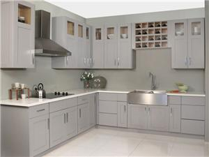 Grey Shaker Solidwood Kitchen Cabinet