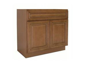 Coffee Glaze Solidwood Bathroom Cabinet Knock-down Bathroom Vanity Vanity Cabinet