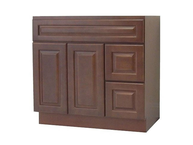 Chestnut Chocalate Solidwood Bathroom Cabinet Knock-down Bathroom Vanity Vanity Cabinet