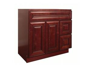 Maple Cherry Solidwood Bathroom Cabinet Knock-down Bathroom Vanity Vanity Cabinet