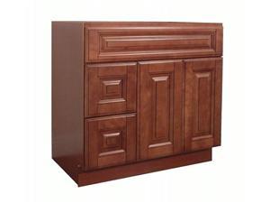 Maple Mocha Solidwood Bathroom Cabinet Knock-down Bathroom Vanity Vanity Cabinet