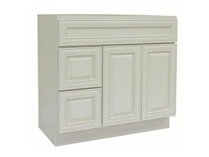 Antique White Solidwood Bathroom Cabinet Knock-down Bathroom Vanity Vanity Cabinet