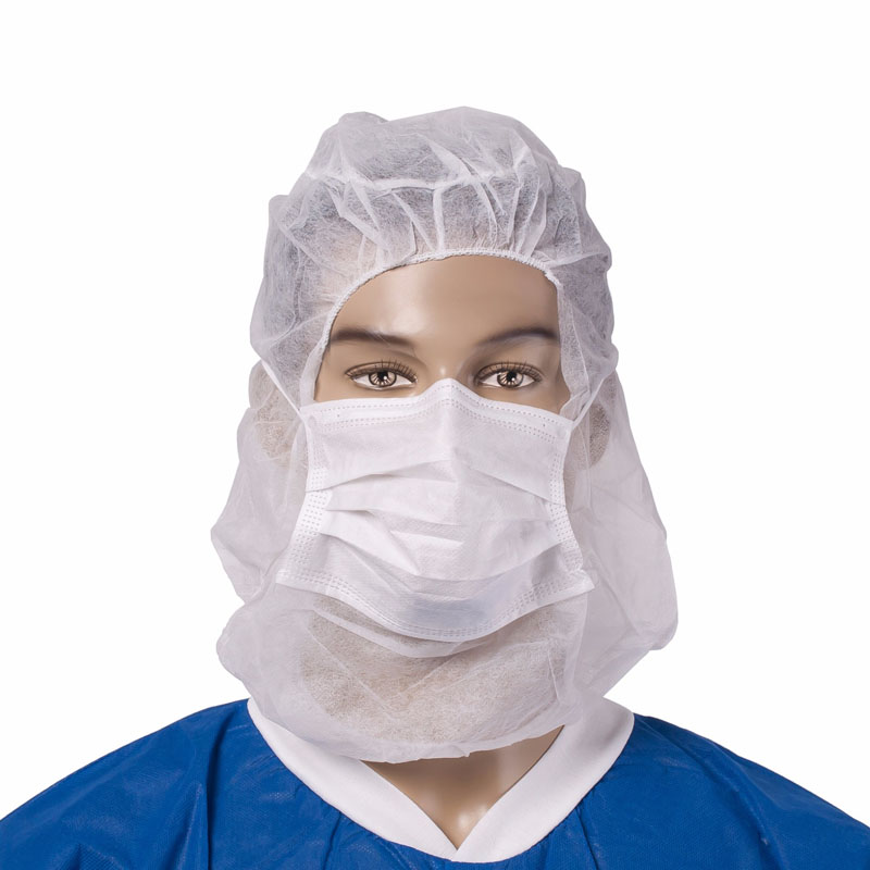 Nonwoven Hood Cap With Facemask