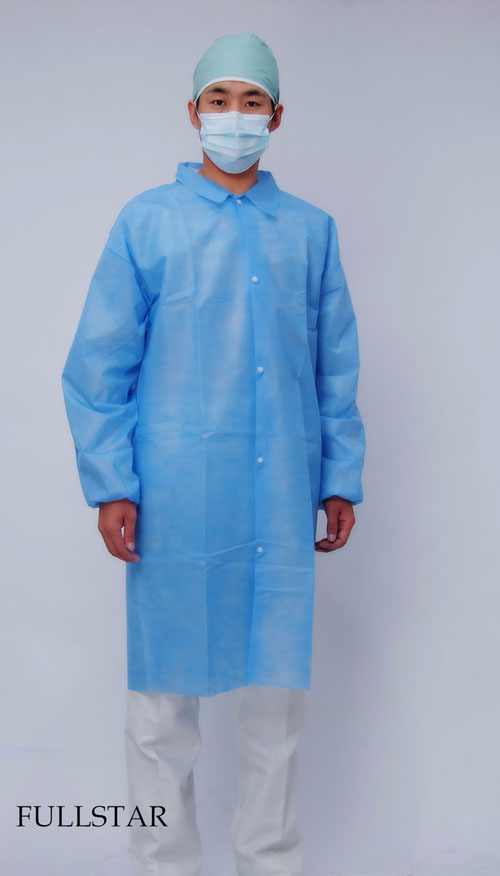 Disposable Non Woven PP Lab Coat
