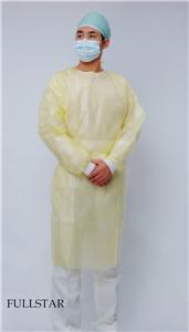 Disposable Laminated Film PP PE Lab Coat