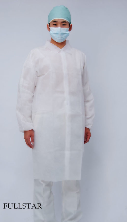 Disposable Non Woven PP Visitor Coat