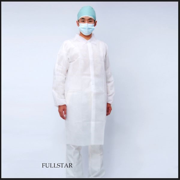 Disposable Non Woven SMMS Visitor Coat