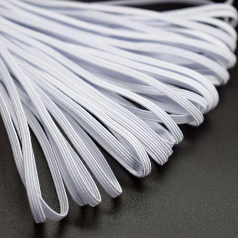 Flexible flache gestrickte elastische Schnur