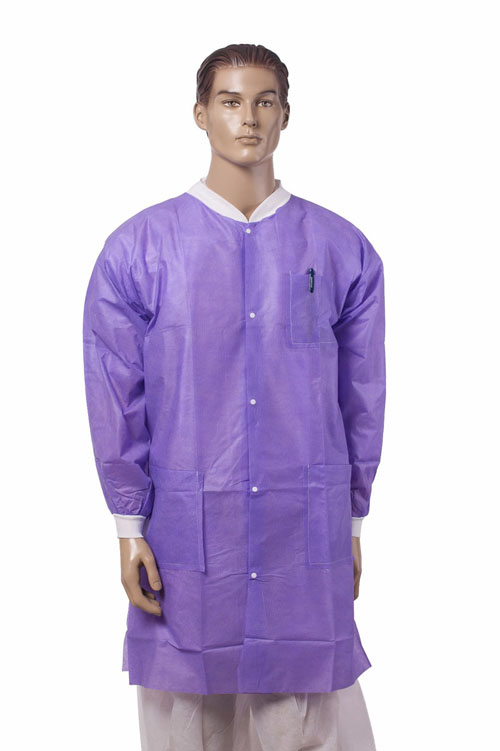 Disposable SMMS Lab Coat Manufacturers, Disposable SMMS Lab Coat Factory, Supply Disposable SMMS Lab Coat