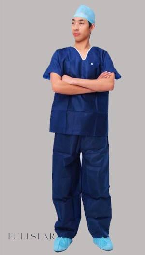 Disposable Hospital SMS Scrub Suit