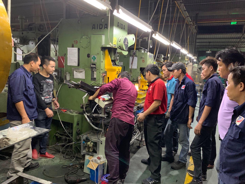 Engineer installation and training in Vietnam