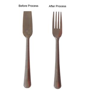 Feeding System For Cutlery Fork Trimming