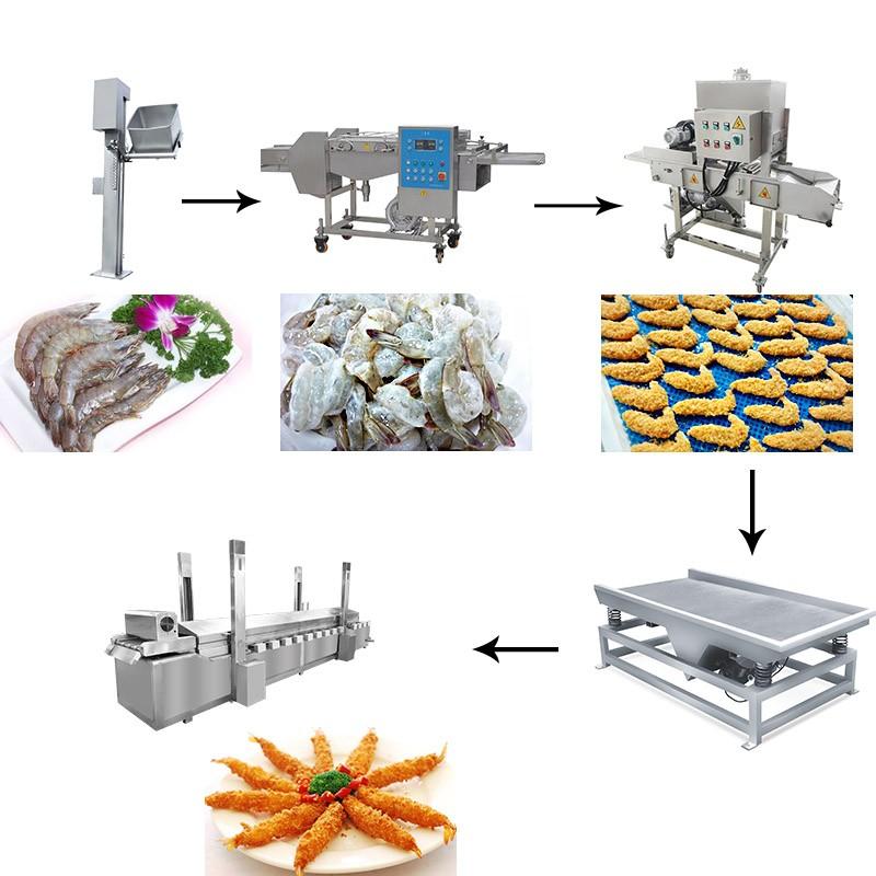 Large Shrimp Frying Machine