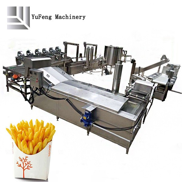 Industrial Fully Automatic Fried Chips Production Line